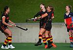 Waikato v Tasman. 2021 National Women's Under-18 Hockey Tournament at National Hockey Stadium in Wellington, New Zealand on Sunday, 11 July 2021. Photo: Dave Lintott / lintottphoto.co.nz https://bwmedia.photoshelter.com/gallery-collection/Under-18-Hockey-Nationals-2021/C0000T49v1kln8qk