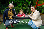 Enjoying the playground in the Killarney National park on Sunday, l to r: Paul and Sadhbh O'Donoghue and Aoife Doyle.