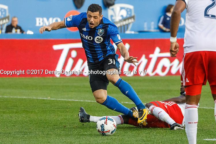 Dernier match de Patrice Bernier avec l'IMPACT de Montreal, le 22 octobre 2017.<br /> <br /> PHOTO : Agence Quebec Presse
