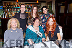 Lorraine O'Sullivan celebrated her 40th birthday with her gal pals in Lord Kenmares restaurant Killarney on Saturday night front row l-r: Alice O'Connoe, Lorraine O'Sullivan, Sinead Sorensen. Back row: Ciara Cunningham, Marian Russell, Vanessa Sorensen
