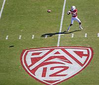 STANFORD, CA - September 15, 2018: Cameron McFarlane at Stanford Stadium. The Stanford Cardinal defeated UC Davis, 30-10.