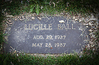"""In a Colorado cemetery, a grave marker for Lucille Ball, but not the famous comedian of """"I Love Lucy"""" fame.  This Lucllle was born 16 years after her famous counter-part by name, and died two years before the 'other Lucy'."""