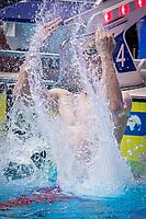 Florian Wellbrock of Germany celebrates after winning the men's 1500m freestyle final during 18th Fina World Championships Gwangju 2019 at Nambu University Municipal Aquatics Centre, Gwangju, on 28  July 2019, Korea.  Photo by : Ike Li / Prezz Images