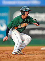 30 April 2008: University of Vermont Catamounts' infielder Brad Currier, a Sophomore from Essex Junction, VT, in action against the University of Massachusetts Minutemen at Historic Centennial Field in Burlington, Vermont. The Catamounts recorded a season-high 19 hits as they defeated the Minutemen 17-4 in their last NCAA non-conference game of the year...Mandatory Photo Credit: Ed Wolfstein Photo