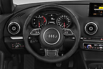 Car pictures of steering wheel view of a 2015 Audi A3 2.0T quattro S tronic Premium 2 Door Convertible