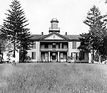 Hopedale Ohio:  While taking progress photographs for the Wabash railroad, Brady Stewart stopped to capture this image of Normal College.  George M Custer was a famous alumnus