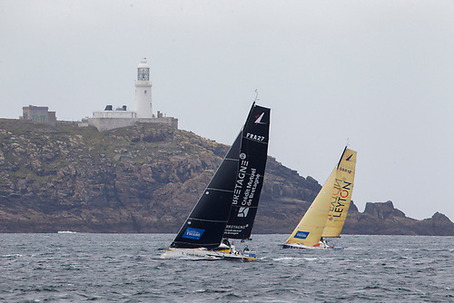 Figaros off Scilly in stage one of the Solitaire du Figaro 2020
