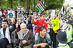 © Joel Goodman - 07973 332324 - all rights reserved . 04/09/2010 . London , UK . Al Quds Day ( Jerusalem Day ) March in London in support of Palestinian causes and against Zionism . Photo credit : Joel Goodman
