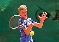 August 4, 2014, Netherlands, Dordrecht, TC Dash 35, Tennis, National Junior Championships, NJK,  Julian van Heur (NED)<br /> Photo: Tennisimages/Henk Koster