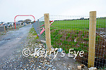The erected fencing on the Fenit to Tralee Greenway