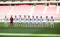 ZAPOPAN, MEXICO - MARCH 21: U23 Starting 11 during a game between Dominican Republic and USMNT U-23 at Estadio Akron on March 21, 2021 in Zapopan, Mexico.