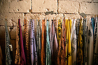 Handprinted scarves or yazmas in Midyat, southeastern Turkey