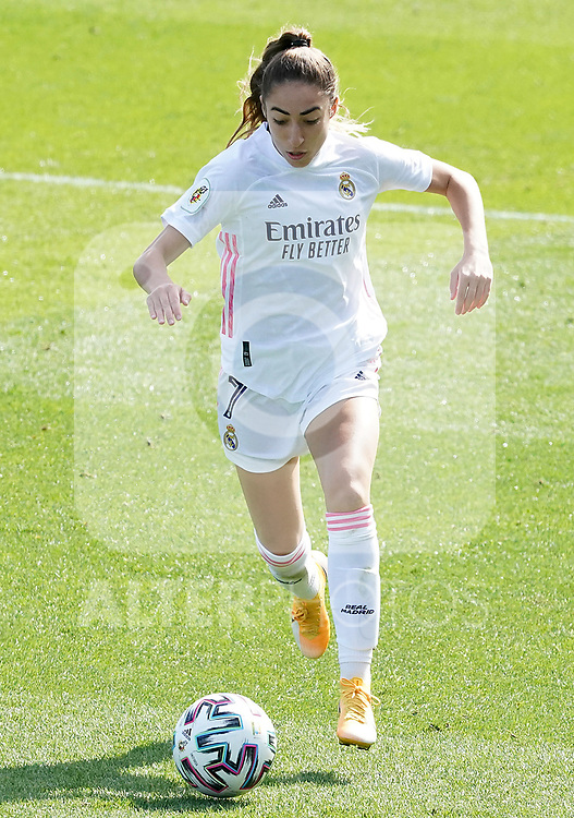 First official match and first classic in the history of women's Real Madrid.<br /> Real Madrid's Olga Carmona during Spanish Female League match. October 4,2020. (ALTERPHOTOS/Acero)