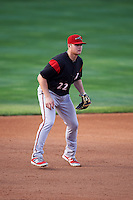 Richmond Flying Squirrels third baseman Christian Arroyo (22) during a game against the Erie SeaWolves on May 27, 2016 at Jerry Uht Park in Erie, Pennsylvania.  Richmond defeated Erie 7-6.  (Mike Janes/Four Seam Images)