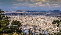 Fine Art Landscape Photograph of the city skyline in Athens, Greece.