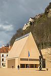 Landtag, Parliament, Schloss, Castle of Vaduz, Rheintal, Rhine-valley, Liechtenstein.
