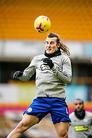 7th February 2021; Molineux Stadium, Wolverhampton, West Midlands, England; English Premier League Football, Wolverhampton Wanderers versus Leicester City; Caglar Soyuncu of Leicester City warms-up prior to the match
