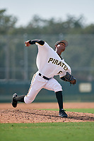 Pittsburgh Pirates pitcher Kleiner Machado (36) delivers a pitch during an Instructional League game against the New York Yankees on September 28, 2017 at Pirate City in Bradenton, Florida.  (Mike Janes/Four Seam Images)