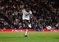 21st September 2021; Craven Cottage, Fulham, London, England; EFL Cup Football Fulham versus Leeds; Joshua Onomah of Fulham taking a shot