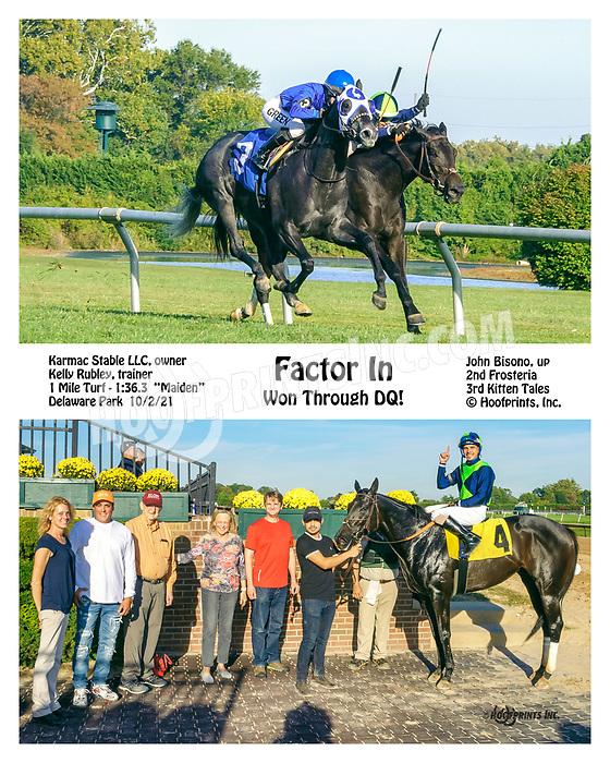 Factor In winning at Delaware Park on 10/2/21