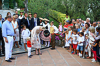 -- NO TABLOIDS NO WEB -- TT.SS.HH. Prince Albert II and Princess Charlene of Monaco attend the traditional picnic of the Principality with their son H.S.H. Prince Jacques and H.R.H. Princess Caroline of Hanover at the Princess Antoinette Park in Monaco.'Ä®They attended the blessing of two trees planted in honor of the Royal twins Jacques and Gabriella.
