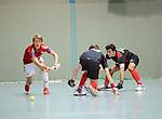 MANNHEIM, DEUTSCHLAND, FEBRUAR 01: Viertelfinale in der 1. Hockey Bundesliga der Herren, Hallensaison 2013/2014. Begegnung zwischen dem Mannheimer HC (blau) und RW Köln (rot) am 01. Februar, 2013 in der Irma-Röchling-Halle in Mannheim, Deutschland. Endstand 4-6. (4-1) (Photo by Dirk Markgraf / www.265-images.com) *** Local caption *** #15 Benjamin Wess von RW Köln