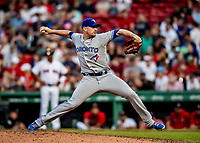 Jun 22, 2019; Boston, MA, USA; Toronto Blue Jays pitcher Daniel Hudson on the mound in the 8th inning against the Boston Red Sox at Fenway Park. Mandatory Credit: Ed Wolfstein-USA TODAY Sports