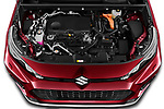 Car Stock 2021 Suzuki Across GLX 5 Door SUV Engine  high angle detail view