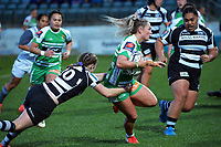 Manawatu's Carys Dallinger in action during the 2021 Farah Palmer Cup women's rugby match between Manawatu Cyclones and Hawkes Bay Tuis at CET Stadium in Palmerston North, New Zealand on Friday, 6 August 2021 Photo: Dave Lintott / lintottphoto.co.nz