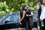 Cable's girlfriend Rachel Jones (right) at the funeral of Stuart Cable at St Elvan's Church in the centre of Aberdare today. The former Stereophonics drummer was found dead at his home on 7th June.