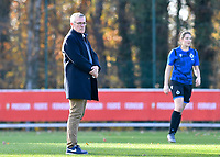Head Coach Leo Van Der Elst (Brugge) pictured during a female soccer game between Standard Femina de Liege and Club Brugge YLA on the seventh matchday of the 2020 - 2021 season of Belgian Scooore Womens Super League , saturday 14 th of November 2020  in Angleur , Belgium . PHOTO SPORTPIX.BE | SPP | DAVID CATRY