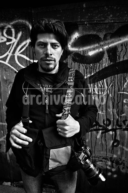 Luis Carlos Gandarillas Bolaños.They are all between their  20's and 30's. They like to call themselves Kamikazes, and they are the new generation of street photo journalists of Bolivia. In a country where photographers are extremely poorly paid, no one can image that this army of young guys and girls are always ready to risk their lives running behind they care most: a good picture telling a news.<br /> Thought the new eyes of this young generation, our photographer and friend in La Paz, French born Cristian Lombardi shows the impacting reality of this South American mostly indigenous nation. In a patient work, Lombardi edited thousands of frames to show as a glimpse of what these new young eyes are watching.