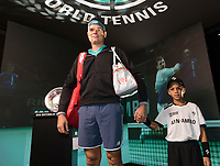 Rotterdam, The Netherlands, 13 Februari 2019, ABNAMRO World Tennis Tournament, Ahoy,  Milos Raonic (CAN) <br /> Photo: www.tennisimages.com/Henk Koster
