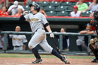 Trenton Thunder Third Baseman Brandon Laird (29) during a game vs. the Erie Seawolves at Jerry Uht Park in Erie, Pennsylvania;  June 24, 2010.   Trenton defeated Erie 11-2.  Photo By Mike Janes/Four Seam Images
