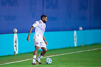 LAKE BUENA VISTA, FL - AUGUST 11: Ruan #2 of Orlando City SC dribbles the ball during a game between Orlando City SC and Portland Timbers at ESPN Wide World of Sports on August 11, 2020 in Lake Buena Vista, Florida.