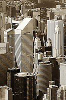 aerial photograph Citigroup Center, skyscrapers, Manhattan, New York City