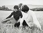 Wendy Osbourne and Adrian Swinstead. Sidcot School Somerset 1967ish