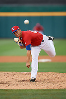 Buffalo Bisons relief pitcher Jose Fernandez (66) delivers a pitch during a game against the Lehigh Valley IronPigs on June 23, 2018 at Coca-Cola Field in Buffalo, New York.  Lehigh Valley defeated Buffalo 4-1.  (Mike Janes/Four Seam Images)