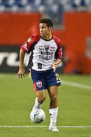 Atlante FC defender Arturo Munoz (15). The New England Revolution defeated Atlante FC 1-0 during a SuperLiga semifinal match at Gillette Stadium in Foxborough, MA, on July 30, 2008.