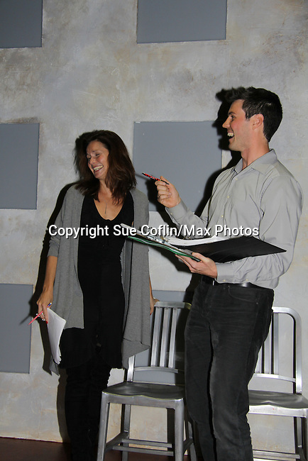 """One Life To Live's Florencia Lozano """"Tea Delgado with Jonathan Pereira (director and host)  in """"Verbatim Verboten - NYC"""" on October 18, 2010 at the WorkShop Theater, NYC. (Photo by Sue Coflin/Max Photos)"""