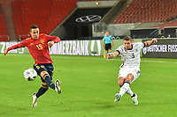 3rd September 2020; Stuttgart, Germany; UEFA Nations League football, Germany versus Spain; Robin GOSENS GERshoots past the attempted block from Rodrigio MORENO ESP.