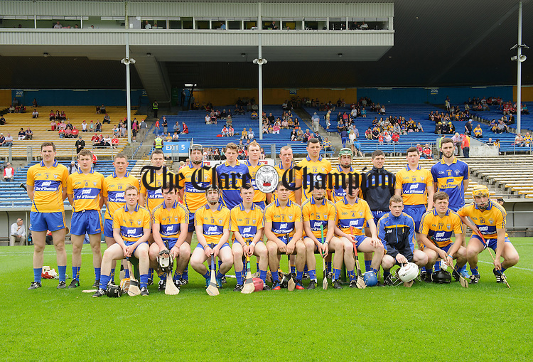 The Clare team before their Munster Intermediate semi-final game against Cork at Thurles. Photograph by John Kelly.