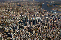 aerial photograph of the skyline of downtown Philadelphia, Pennsylvania