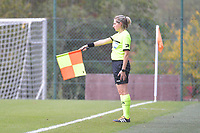 assistant referee Maria Etienne pictured during a female soccer game between Standard Femina de Liege and Dames SV Zulte Waregem on the fifth matchday of the 2020 - 2021 season of Belgian Scooore Womens Super League , saturday 17 th of October 2020  in Angleur , Belgium . PHOTO SPORTPIX.BE | SPP | STIJN AUDOOREN