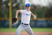 Gabe Nicholson (62), from Collierville, Tennessee, while playing for the Royals during the Baseball Factory Pirate City Christmas Camp & Tournament on December 27, 2017 at Pirate City in Bradenton, Florida.  (Mike Janes/Four Seam Images)