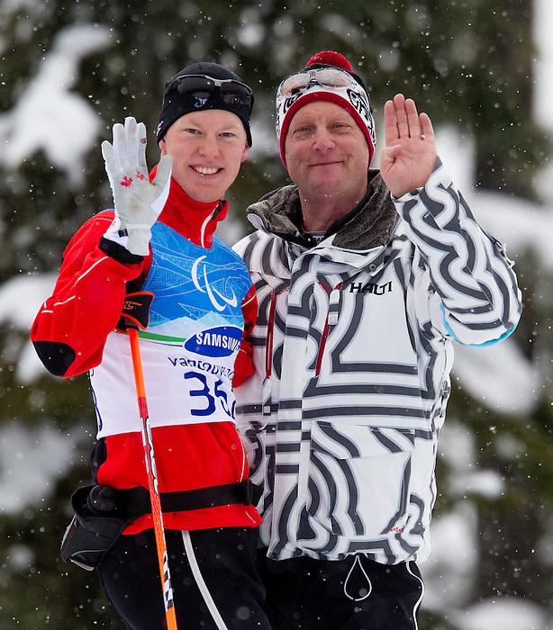 Mark Arendz, Vancouver 2010 - Para Nordic Skiing // Ski paranordique.<br /> Mark Arendz competes in Para Biathlon // Mark Arendz participe en parabiathlon. 13/03/2010.