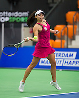 Rotterdam, Netherlands, December 17, 2015,  Topsport Centrum, Lotto NK Tennis, Eva Wacano (NED)<br /> Photo: Tennisimages/Henk Koster