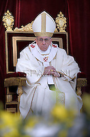 Pope Francis  during a Corpus Domini procession between the basilicas San Giovanni in Laterano and Santa Maria Maggiore on in Rome.30 May 2013