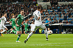 Jesé of Real Madrid and Minev of Ludogorets during Champions League match between Real Madrid and Ludogorets at Santiago Bernabeu Stadium in Madrid, Spain. December 09, 2014. (ALTERPHOTOS/Luis Fernandez)