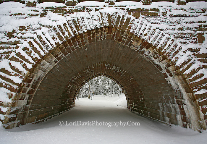 Eagle Lake Bridge Winter  #A29